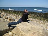 Me reenacting a scene from The Little Mermaid in Montauk