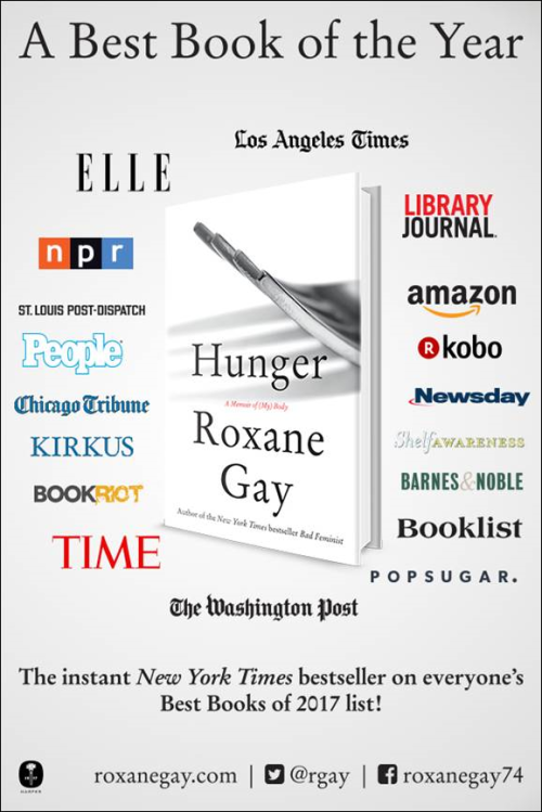 Roxane Gay's HUNGER Is A Best Book Of The Year! - Library