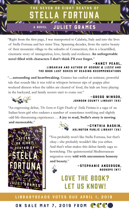 STELLA FORTUNA ecard for library with Nancy Pearl